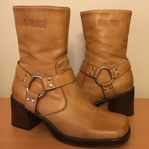 Durango tan leather motorcycle boots
